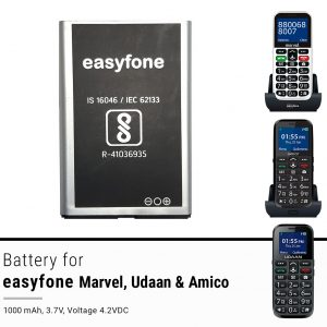 Easyfone Udaan Battery