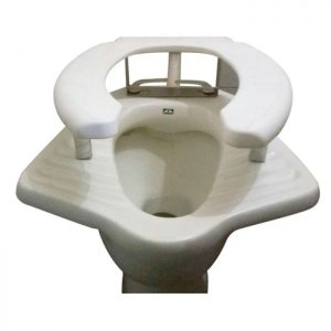 RAISED TOILET SEAT ANGLO INDIAN COMMODE